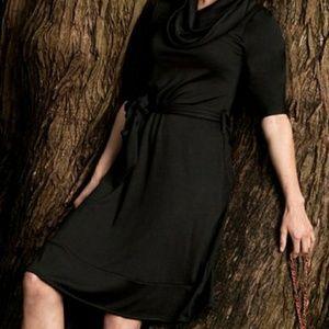 NWOT Shabby Apple black tie waist dress